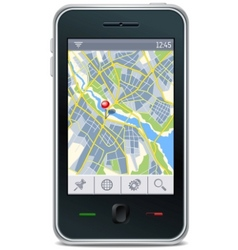 gps navigator interface vector image vector image