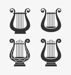 greek harp symbol vector image