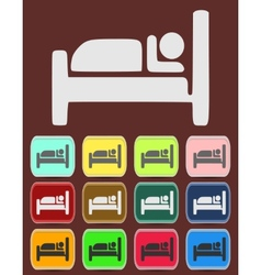 Icon Button Pictogram with Hotel vector image