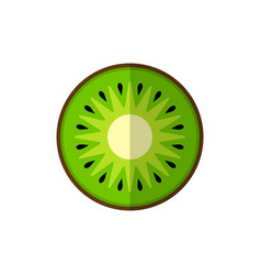 kiwi on white vector image