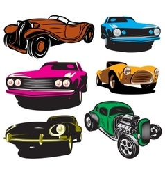 collection of with colored vector image