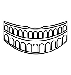 Colosseum in rome icon outline style vector