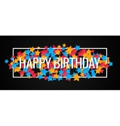 Happy Birthday Banner Design Background vector image vector image