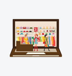 online fashion store vector image vector image