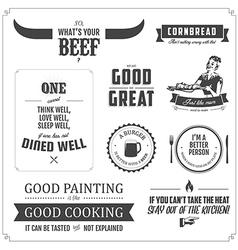 Set of restaurant menu typographic design elements vector image vector image