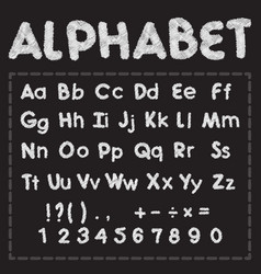 white latin alphabet with scribble effect vector image