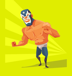 angry wrestler man character vector image
