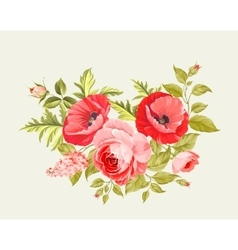 Background with poppies vector image