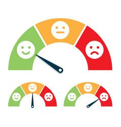 feedback concept valuation by emoticons vector image
