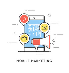 Mobile marketing e-commerce internet advertising vector