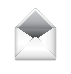 Opened letter envelope vector image