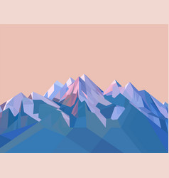 polygonal mountains vector image vector image
