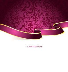 ribbon vintage pic vector image vector image