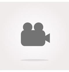 video camera icon web app button vector image