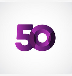 50 years anniversary celebrations purple template vector