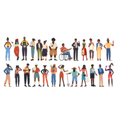 African american people community diversity group vector