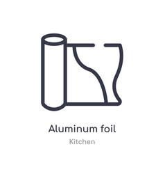 Aluminum foil outline icon isolated line from vector
