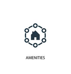 Amenities icon simple element vector