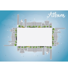 Athens Skyline with Grey Buildings vector image