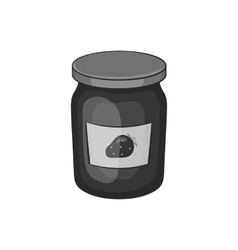 Bank strawberry jam icon black monochrome style vector image