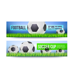 Banners for football or soccer games tournaments vector