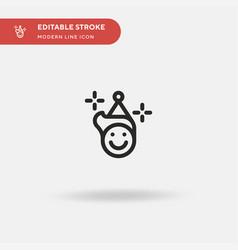 Birthday boy simple icon vector