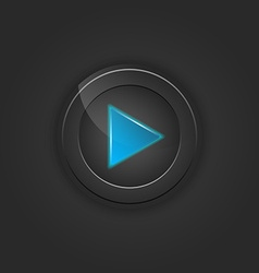 Black button play vector image