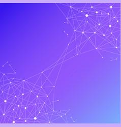 Blockchain technology futuristic abstract vector