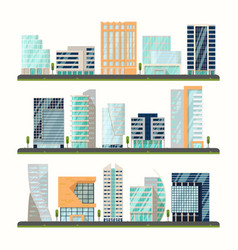 buildings or skyscrapers houses exterior view vector image