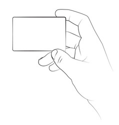 business card in a hand vector image