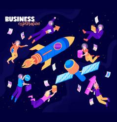 business exploration isometric background vector image