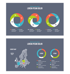 business infographic presentation slides template vector image