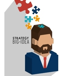 Business strategy and planning vector image