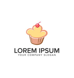 cake food logo design concept template fully vector image