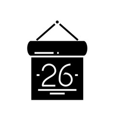 Calendar day black icon concept vector