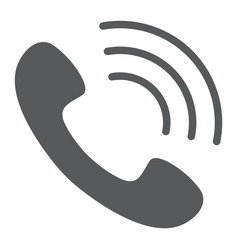 call glyph icon phone and communication vector image
