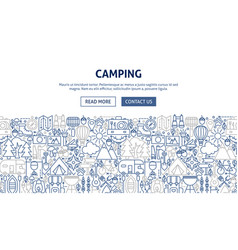 Camping banner design vector