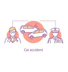 car accident concept icon vector image