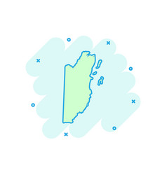 cartoon belize map icon in comic style belize vector image