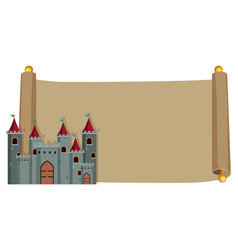 castle on vintage paper vector image
