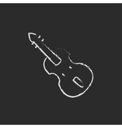 Cello icon drawn in chalk vector image