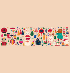 christmas big set vector image
