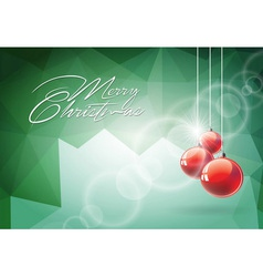 Christmas with red glass ball vector image