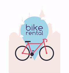 City bike hire rental tours for tourists and vector