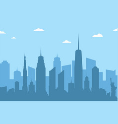Cityscape silhouette background abstract city vector