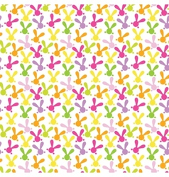 Colorful seamless pattern with easter bunny vector image