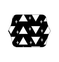 Contour line quadrate with memphis style geometric vector