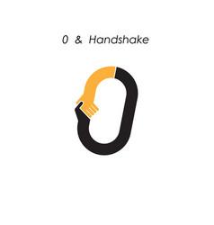 Creative 0- number icon abstract logo design vector
