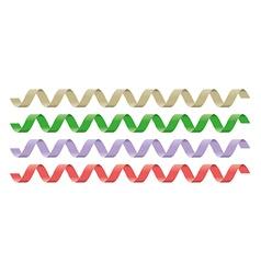 falling gold confetti vector image vector image