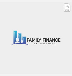 Family finance business logo template icon element vector